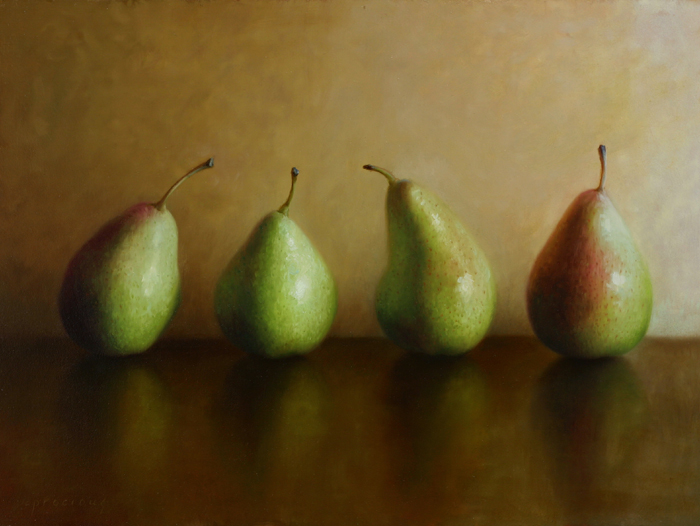 Pears on Gold
