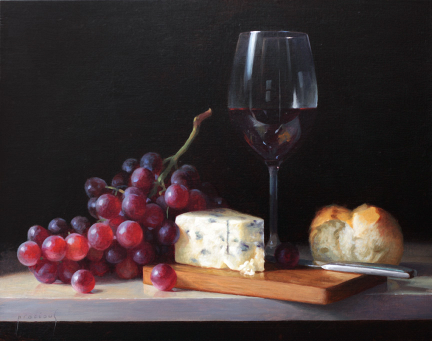 Wine, Cheese and Fruit