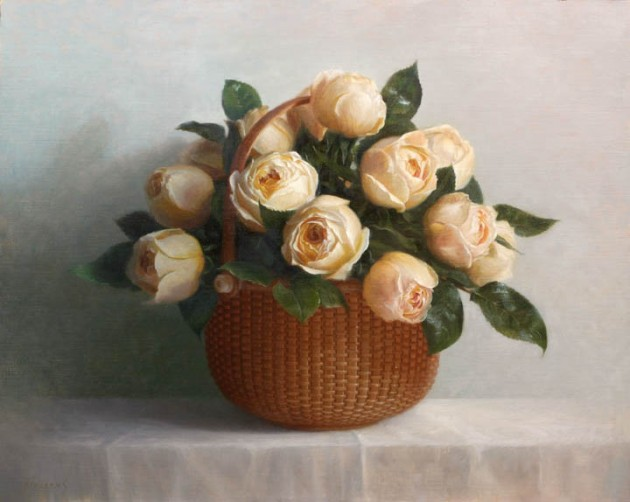 Nantucket Basket with Roses