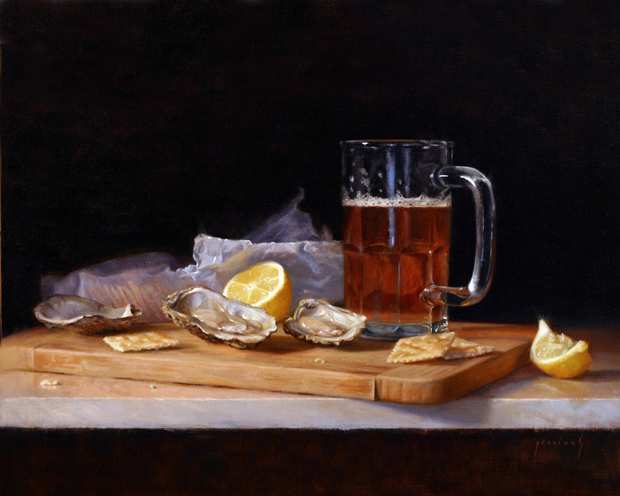 """New England Happy Hour • 16 x 20"""" oil on linen"""